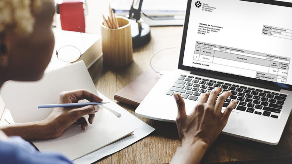 d claration de revenus votre facture est en ligne oiiq. Black Bedroom Furniture Sets. Home Design Ideas