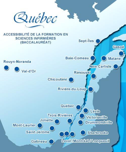 Accessibilité de la formation infirmière au Québec